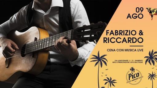 Sanremo: questa sera al Pico de Gallo cena con il live di Fabrizio Barbera e Riccardo Sasso