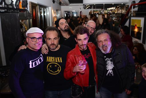 """Steve Foglia con la sua band alla presentazione del disco """"Never Give Up"""""""
