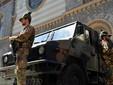 Militari in servizio di vigilanza presso Sinagoga Torino