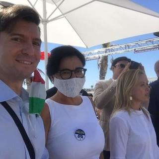 Da sinistra: Fabrizio Cravero, Sara Serafini e Giorgia Meloni