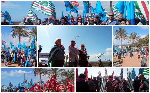 Imperia: alla festa provinciale dei lavoratori lanciati i temi più scottanti per tutta la provincia (Foto e Video)