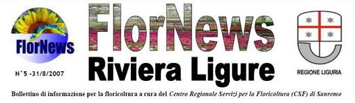Sanremo: è stato pubblicato il numero 288 di FlorNews - Riviera Ligure