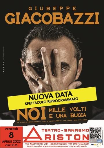 Sanremo: lo spettacolo all'Ariston di Giuseppe Giacobazzi rinviato ad aprile 2022
