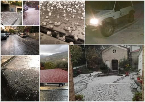 Maltempo: cella temporalesca sulla nostra provincia, fitta grandinata nella zona di Sanremo (Foto e Video)