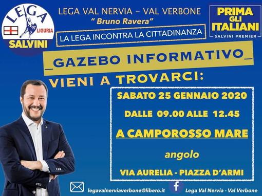 Camporosso: domani mattina in piazza D'Armi la Lega riprende l'attività sul territorio