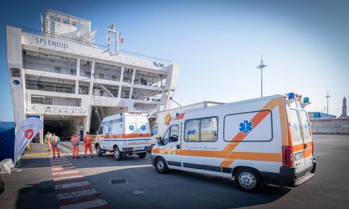 Genova: portati oggi a bordo della 'nave ospedale' Gnv Splendid i primi due pazienti (Foto e Video)