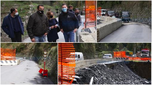Riapre la SP 548 tra Molini e Triora, nell'emergenza vince il 'Modello Valle Argentina' (Foto e Video)