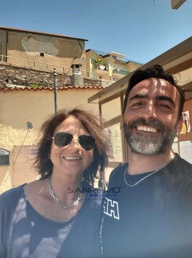 Gianna Nannini con il vice sindaco Massimiliano Gaglianone