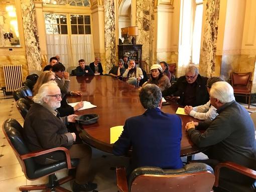 L'incontro nella Sala Giunta del Comune di Sanremo