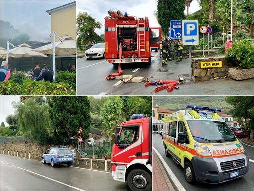 Le immagini dal luogo dell'incendio