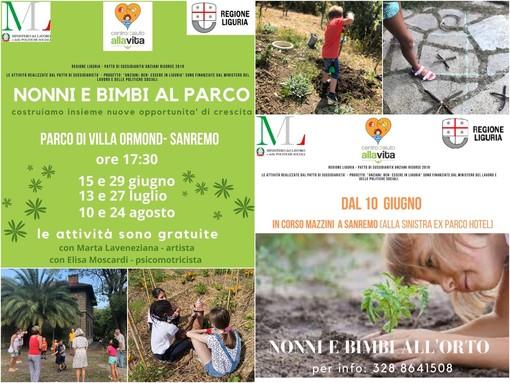 Sanremo: Deplasticati e Centro Aiuto alla Vita invitano grandi e piccini all'orto e al parco