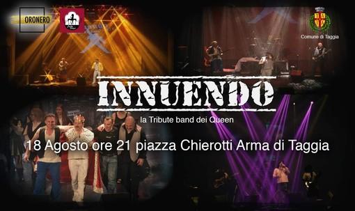 Arma di Taggia: domenica 18 agosto esibizione degli Innuendo, tribute band ai Queen