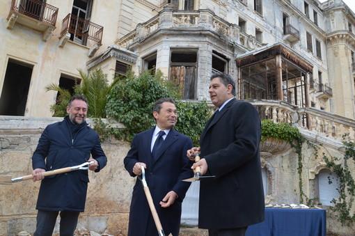 Bordighera: dopo un secolo con la 'Bizzi & Partners' al via la ristrutturazione dell'Angst (Foto e Video)