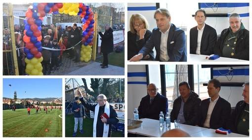 Diano Marina: inaugurato oggi il nuovo campo sportivo Wladimiro Marengo, sarà la casa della Dianese & Golfo (Foto e video)