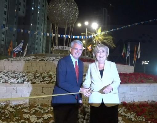 Ieri sera per ricordare la conferenza del 1920 è stata inaugurata a Netanya in Israele 'Piazza Sanremo' (Foto e Video)