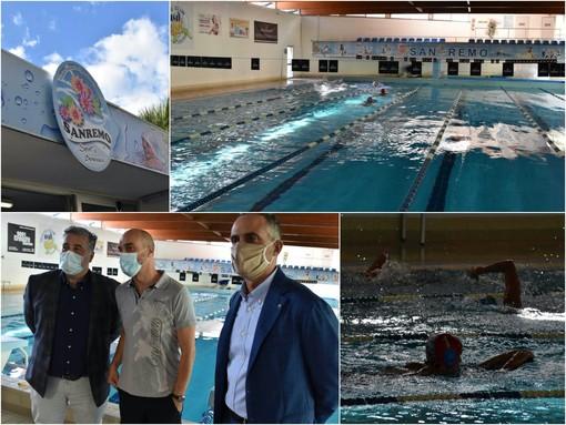 Le immagini dalla piscina comunale di Sanremo