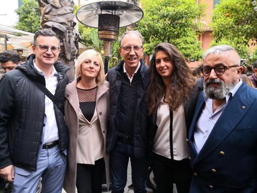 Elezioni Amministrative Sanremo: ieri l'incontro in piazza Bresca con Francesca Crespi e Luigi Muscio (Foto)