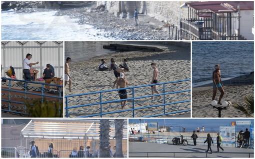 Sanremo: è stata una domenica di Pasqua con tanta gente sui lungomare e in spiaggia (Foto)