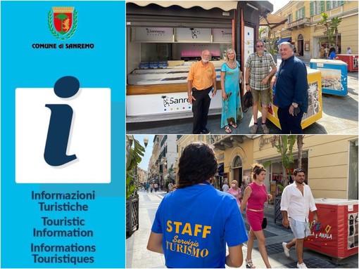 Sanremo: per l'estate l'ex edicola di via Matteotti di fronte al Centrale diventa un infopoint (Foto e Video)