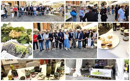 Taggia: inaugurata questa mattina 'Meditaggiasca', il ritorno della rassegna dopo lo stop del Covid (Foto e Video)