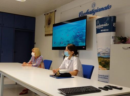 Sanremo: proficuo incontro tra il comandante D'Abronzo (Guardia Costiera) e i balneari della Confartigianato
