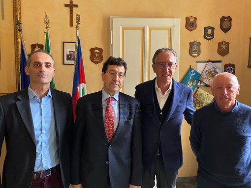 L'incontro nell'ufficio del sindaco Biancheri