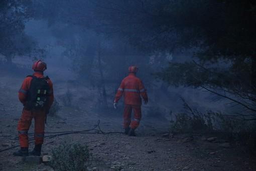 Imperia: spento intorno alle 2 l'incendio divampato ieri sera a Santa Brigida alle pendici del Faudo