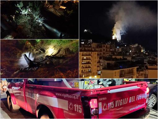Le immagini dell'incendio