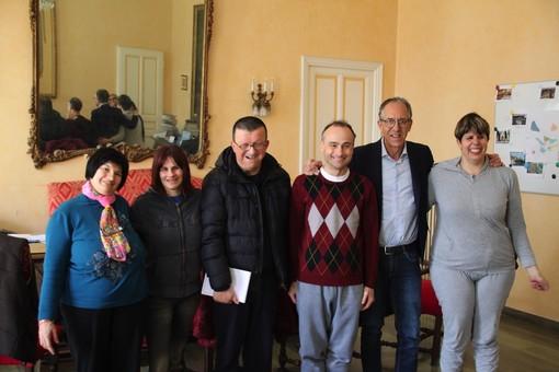 I ragazzi di Anffas Onlus Sanremo con il sindaco Alberto Biancheri