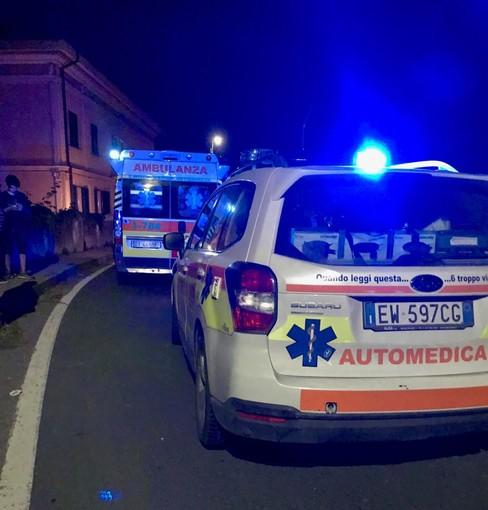 Ventimiglia: incidente in zona San Lorenzo, centauro ferito e portato in ospedale