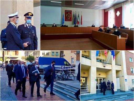 Le immagini dell'incontro in Comune a Ventimiglia