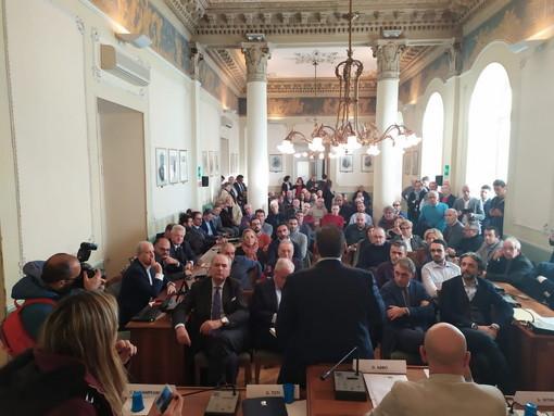 """Il Governatore ad Imperia conferma la richiesta di 450 mln a Roma, Scajola """"Questa non deve essere una passerella"""" (Foto e Video)"""