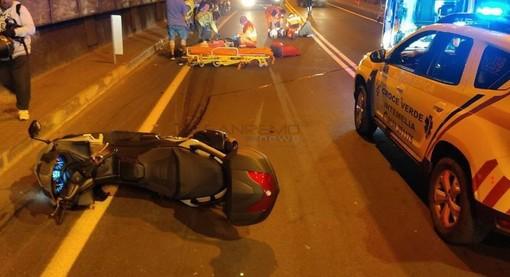 Incidente di ieri sera sull'Aurelia ai Balzi Rossi: entrambi in prognosi riservata i due frontalieri