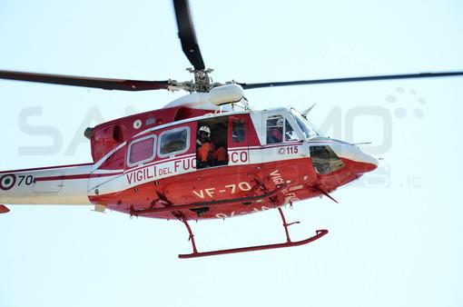 Perinaldo: donna precipita con l'auto da una fascia, mobilitazione di soccorsi ed intervento dell'elicottero