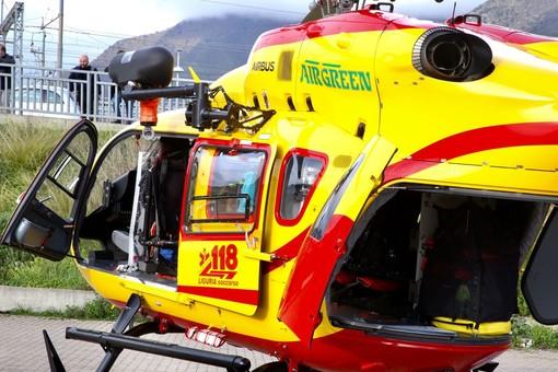 Dolcedo, mobilitazione di soccorsi per un ciclista caduto a Santa Brigida