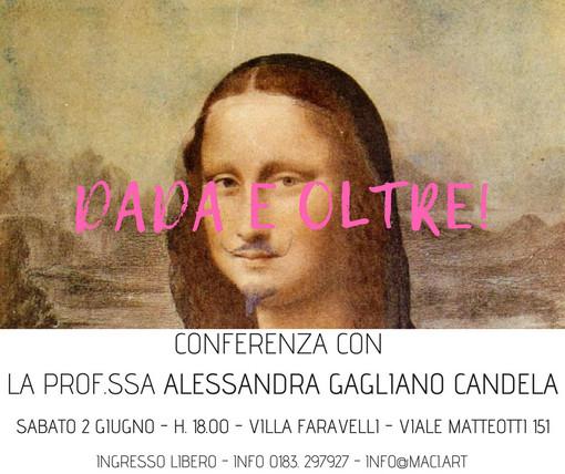 """Imperia: sabato al M.A.C.I. la conferenza """"Dada e oltre!"""" della Prof.ssa Alessandra Galiano Candela"""