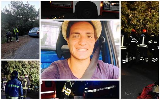 Sanremo: è Alberto Lupinetti il 27enne morto stanotte in via delle Fonti a Bussana, indagini della stradale in corso (Foto e Video)