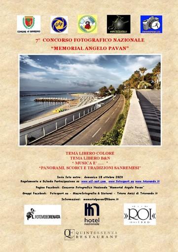 """Aperte fino al 18 ottobre le iscrizioni al Concorso Fotografico Nazionale """"Memorial Angelo Pavan"""""""