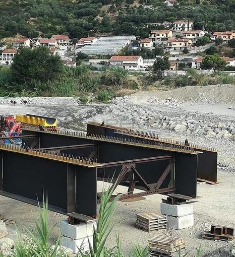 I lavori per il ponte di Bevera