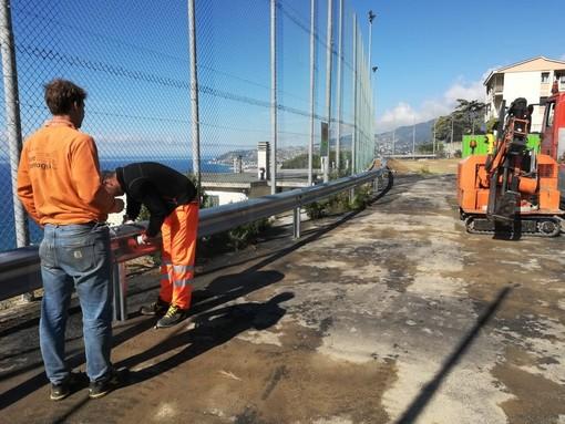 Sanremo: proseguono i lavori al nuovo parcheggio di frazione Poggio, a breve disponibili i 90 posti auto (Foto)