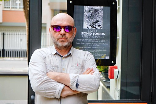 Bordighera; questo pomeriggio, inaugurazione mostra 'Simboli' dell'artista grafico Leonid Tomilin