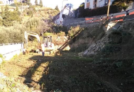 Sanremo: iniziati i lavori di messa in sicurezza sulla strada di Bussana franata il 3 gennaio (Foto)