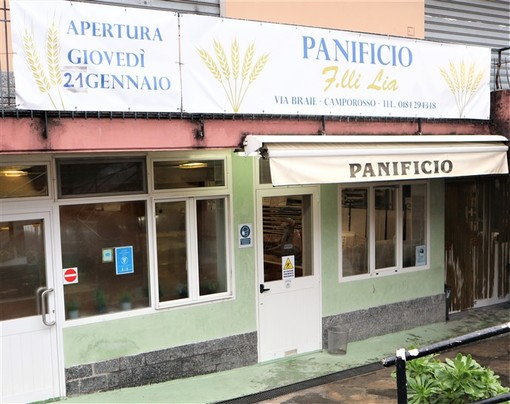 Una buona notizia da Camporosso: riaperto lo storico Panificio Fratelli Lia