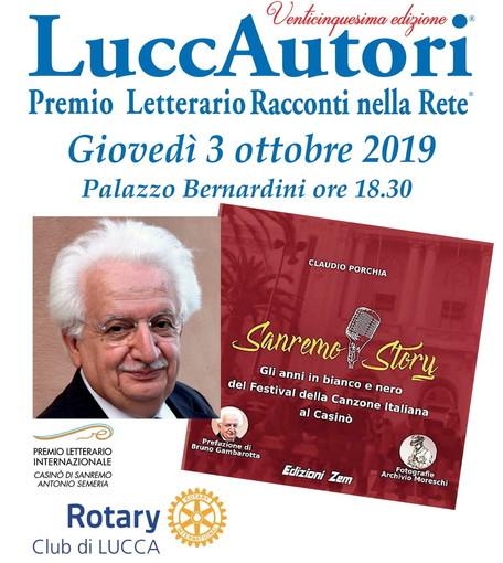 Bruno Gambarotta e Claudio Porchia presentano il libro 'Sanremo Story' il 3 ottobre alla rassegna 'LuccAutori'