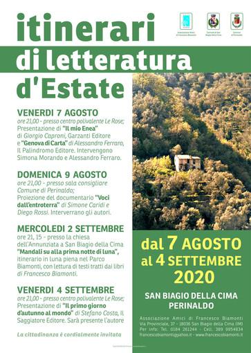San Biagio della Cima: riprende l'attività dell'associazione Amici di Francesco Biamonti. Il programma