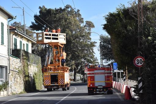 Sanremo: riaprirà tra le 15 e le 16 la statale Aurelia chiusa da ieri all'altezza de 'La Vesca' (Foto)