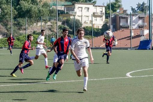 Luca Gambacorta in azione con la maglia dell'Ospedaletti