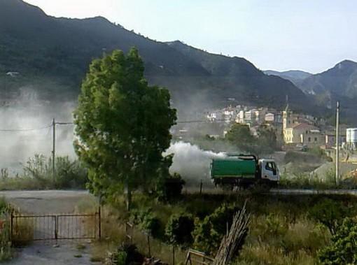 Ventimiglia: sostanza irrorata ieri nella zona del ponte di Bevera, la preoccupazione dei cittadini (Foto e Video)
