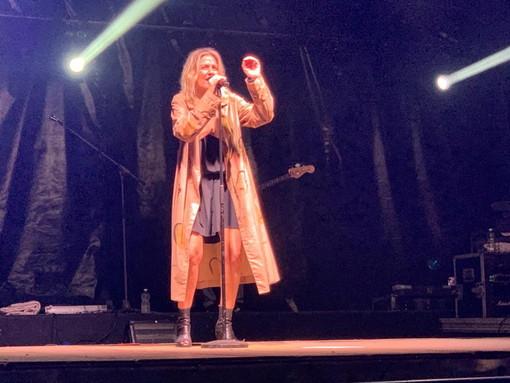 Grande successo ieri sera per il concerto di Irene Grandi a Limone Piemonte
