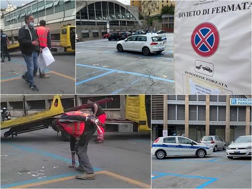 Sanremo: il mercato torna in piazza Eroi e cambia volto, per la prima volta nella sua storia sarà a norma per l'anti incendio (Foto)